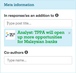 Anyone can reply to the post author with a article, announcement, etc