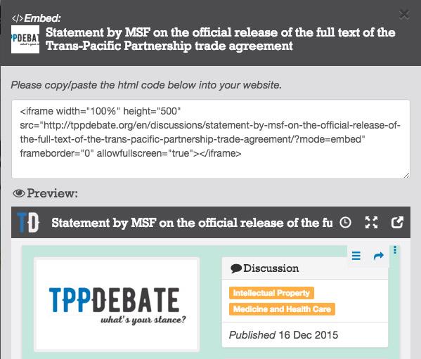 Código HTML para insertar en otros sitios