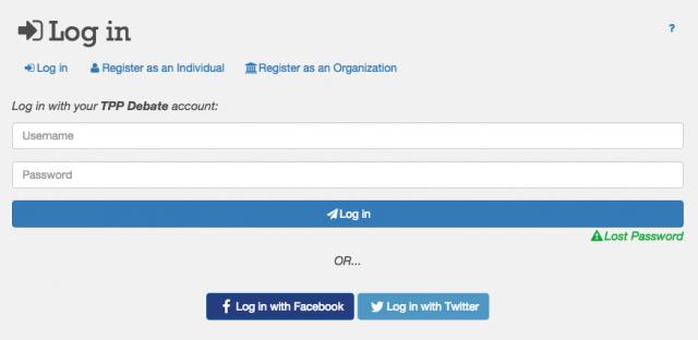 website-login-screen